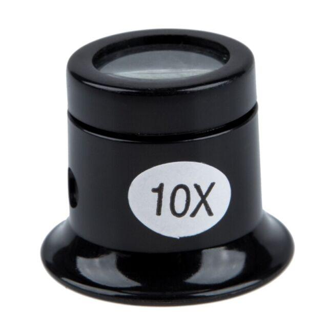 Watch Eyes Loupe 10X Jeweller Optical Glass Magnifier Magnifying Len Tool J9D3