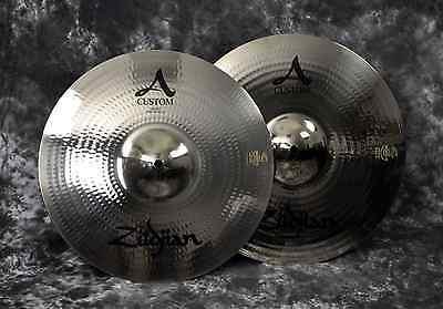 "Zildjian A20510 14"" A Custom Hi Hat Cast Bronze Cymbal (Pair) - See Guarantee"