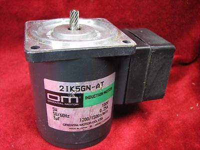 Oriental Motor 100v Induction Motor 5w 0.25a 1200//1500 rpm  21K5GN-AT