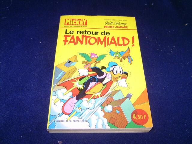 Le retour de Fantomiald! Walt Disney Taschenbuch französisch 1975 N. 1217 MICKEY
