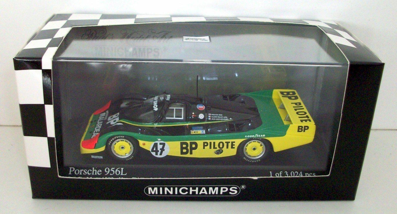 MINICHAMPS 1 43 - 430 836547 PORSCHE 956L 24H LE MANS 1983   BP PILOTE