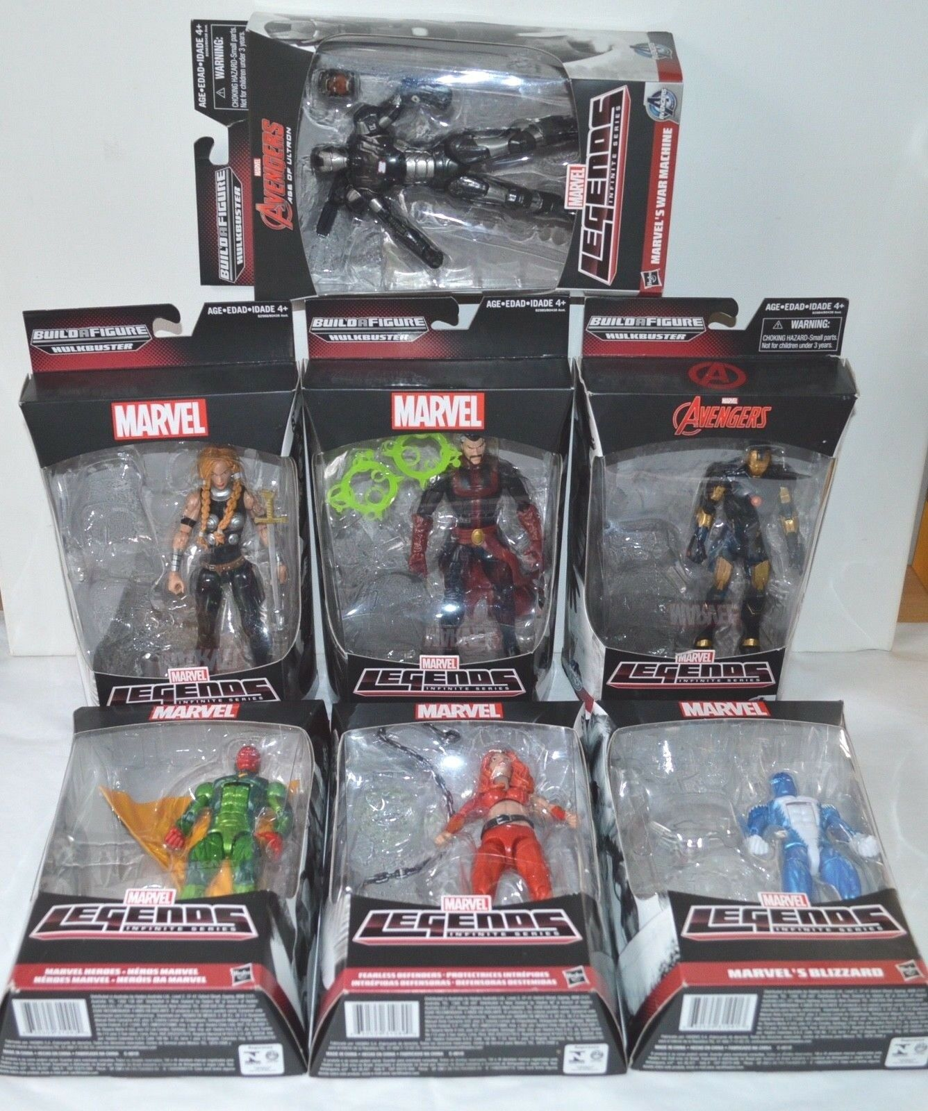 Marvel Legends Infinite Series Lot Complete Strange Iron Man Vision Hulkbuster