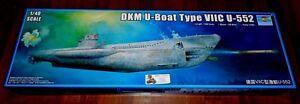 WWII-german-Kriegsmarine-DKM-U-Boat-U-Boot-Type-VIIC-U-552-1-48-Trumpeter-Neu