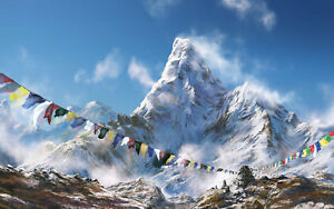 Impression-Encadree-Support-Everest-Monde-S-la-Plus-Grande-Montagnes-Image