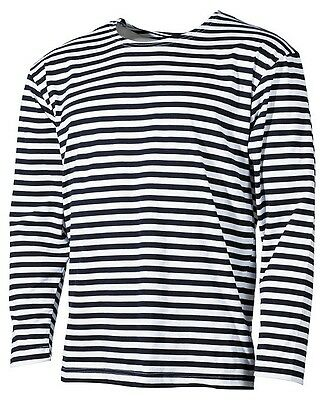 RUSSIAN NAVY  MARINE  STRIPED LONG SLEEVE T-SHIRT TELNYASHKA SAILOR SM-XXXL