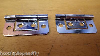 2 Paar Flush Hurlinge Scharniere 1 1/2 Zoll Verchromt Schrank 260-21 Profitieren Sie Klein