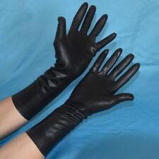 LATEX BLACK GUM TIGHT GLOVES HANDS RUBBER FANCY DRESS HALLOWEEN HORROR SCIENTIST