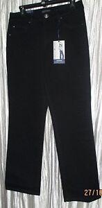 "*BANDOLINO* ""Mandie"" Perfect Fit Black,Cotton/Spandex, Straight Stretch Jeans,8P"