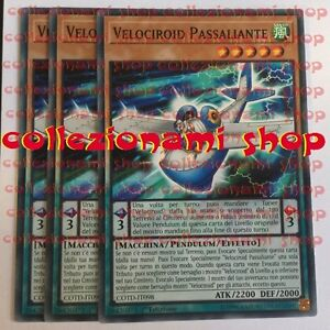 SET-3x-COTD-IT098-Velociroid-Passaliante-Speedroid-Passinglider-COMUNE-ITALIANO