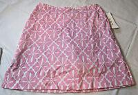 Womens Ladies H B A Hba Skort Skirt 6 Pink White 115993 Cotton Spand