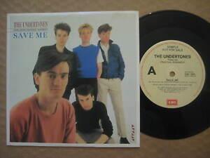 THE-UNDERTONES-Save-Me-RARE-AUSSIE-7-034-PROMO-SINGLE-1983-EMI-1800