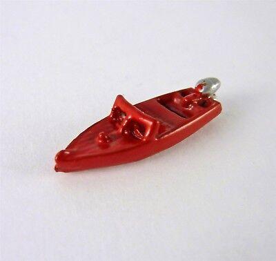 2915-1 Dollhouse Miniature Artisan RED Farm Tractor Toy