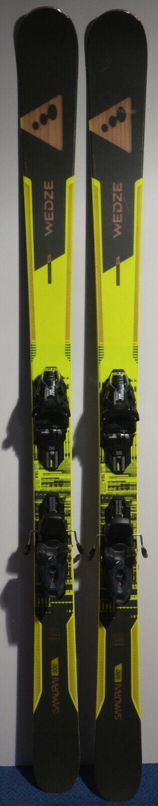 Ski Parabolic used WED 'ZE Samurai 500 + bindings 184cm Model 18