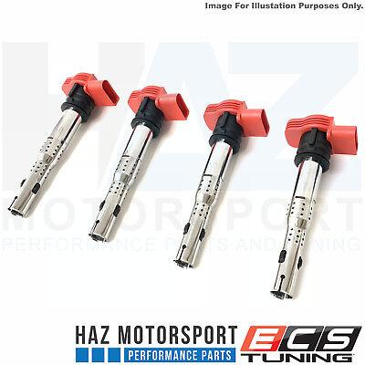 2x Red Coil Pack Set For AUDI R8 2.0TFSI//2.0TSI A3//GOLF 5//LEON 06E905115E OE