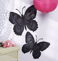 2 Huge Butterfly Chalkboard Removalbe Decals Stickers Peel N Stick Wall Murals