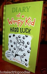 Diary Of A Wimpy Kid Books Hard Luck AUTOGRAPHED Diary Of A...