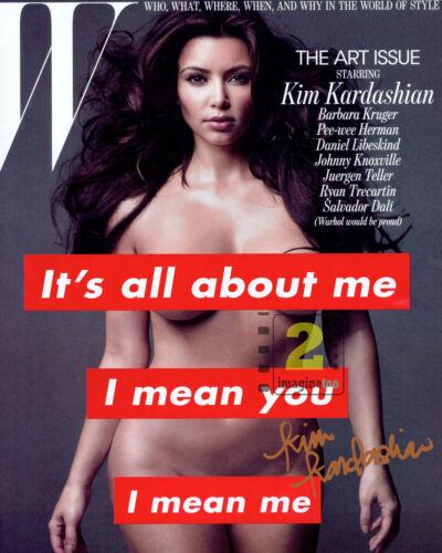 "Kim Kardashian ""W"" Cover 8""x 10"" Signed Color PHOTO REPRINT"
