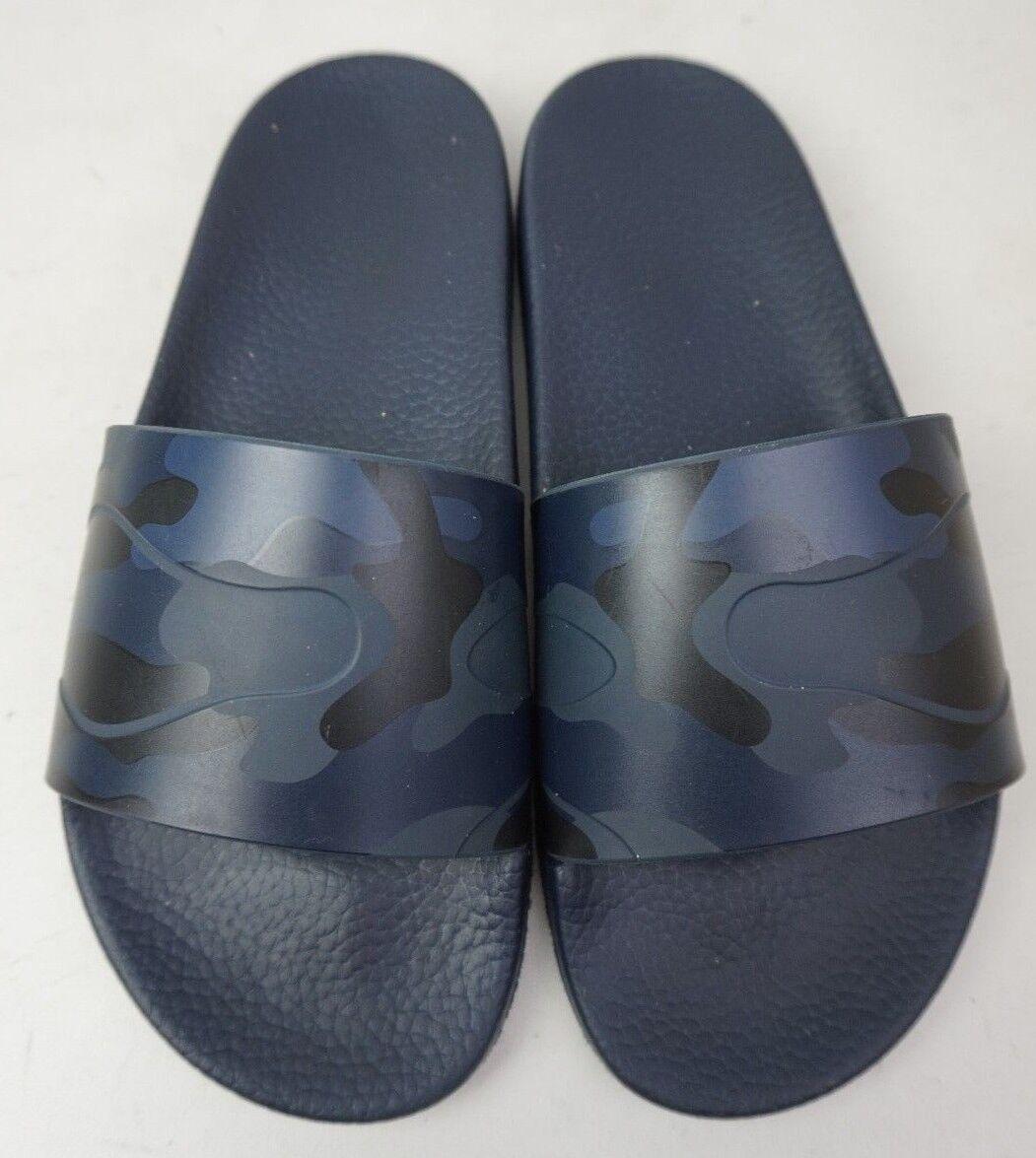 Valentino Men's Camo Slide Navy Sandals Navy Slide Black Shoes Size 40 EU / 7 US dc0b8c