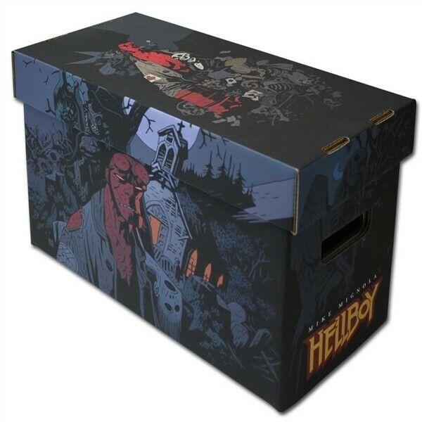 BCW Short Cardboard Comic Book Storage Box with Hellboy Art Design