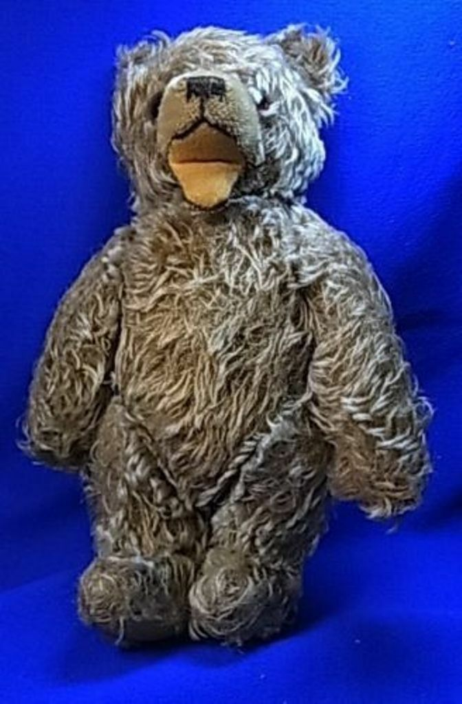 Vintage German Stuffed Animal Steiff or Hermann Teddy Zotty Bear  ^A1