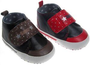 Soft-Touch-chaussures-bebe-souple-rouge-ou-noire-garcon-6-a-15-mois