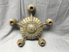 Antique Victorian Cast Iron Chandelier Old Vtg Ceiling Light Fixture 243-17E