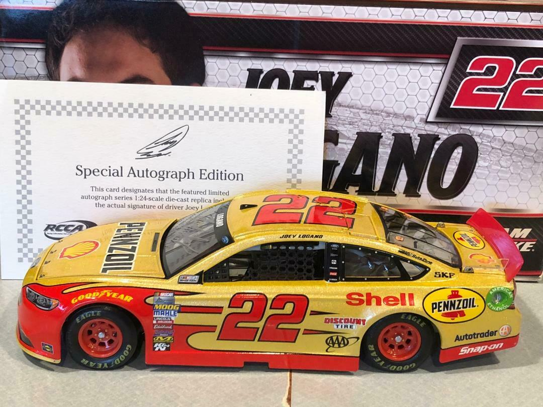 2017 Action Joey Logano Shell Pennzoil 1 24 Galaxy color Autographed 1 of 24