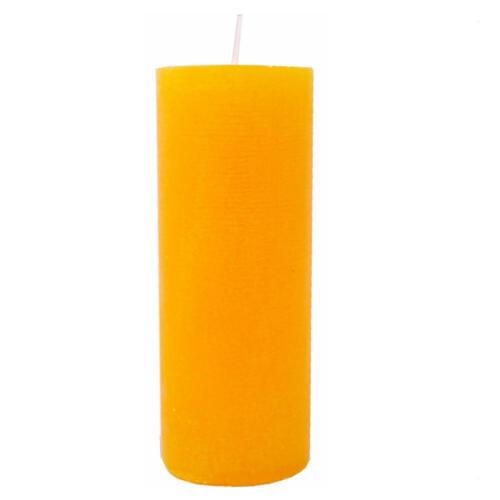 Gelb Neu 6 große dänische Rustik Kerzen 180x70 mm 1.Wahl