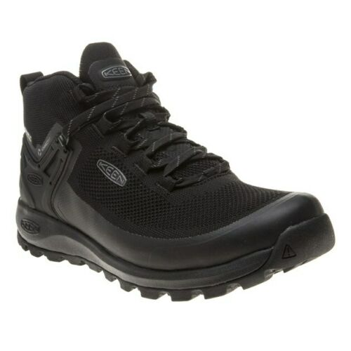 New Mens Keen Black Citizen Evo Mid Waterproof Nylon Boots Lace Up