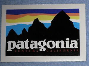 Patagonia old retro vinyl sticker decal hiking camp fish for Patagonia fish sticker