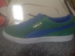 low priced 63cb5 165fa Details about Puma Clyde Vintage Size 8 Ultra Rare Samples Real Suede  Leather Vintage Puma