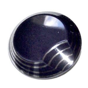 Bouton Ancien En Verre Bleu Marine Et Argenté 27mm Button Plus De Rabais Sur Les Surprises