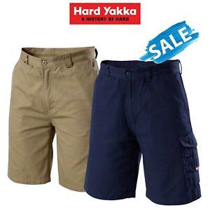 Mens Hard Yakka Legends Shorts 2Pk Cargo Cotton Work Tradie Cordura Tough Y05066