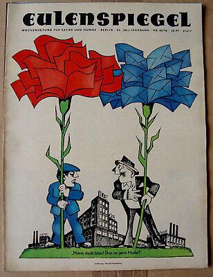 2eu7818/ Ddr Satirezeitschrift - Eulenspiegel - Heft 18/1978