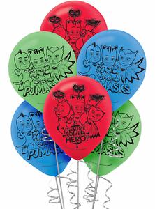 PJ Masks Printed Latex Balloons Birthday Decorations Party Supplies Favors 12ct