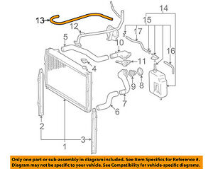 toyota oem 96 04 tacoma 3 4l v6 radiator bypass hose 1626162060 ebay rh ebay com Toyota Tacoma V4 Engine Diagrams Toyota V6 Engine Parts Diagram