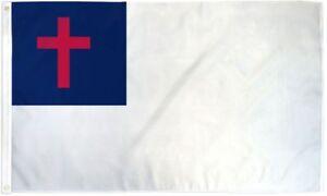 3x5 Christian Premium 210D 3'x5' Knitted Poly Nylon DuraFlag Banner (FI)