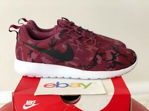 official photos 2d36b 95c10 Image is loading DS-Mens-Nike-Rosherun-RED-CAMO-Print-Sizes-