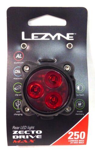 Lezyne Zecto MAX Drive LED Rear 250 Lumens