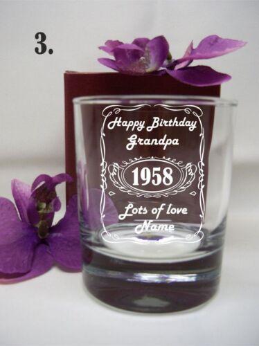 PERSONALISED ENGRAVED WHISKEY SPIRIT GLASS BIRTHDAY GIFT