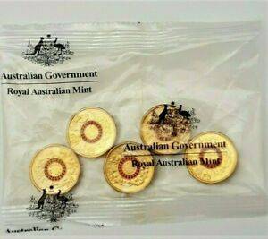2015-2-Two-Dollars-Australian-Lest-We-Forget-Red-Anzac-5-Coins-Ram-Mint-Bag
