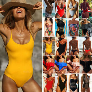 Women-Swimwear-One-Piece-Swimsuit-Beachwear-Push-Up-Padded-Bikini-Bathing-suit