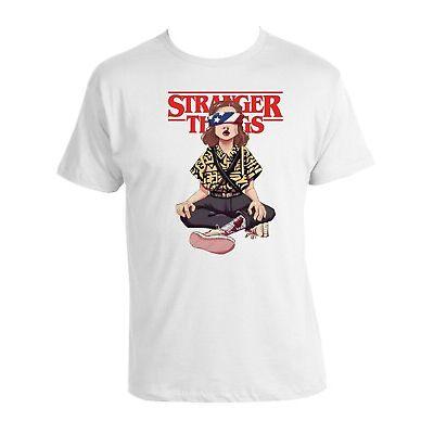 Stranger Things T-shirt  unisex white Tee 100% cotton Stranger Things 2019 Tee