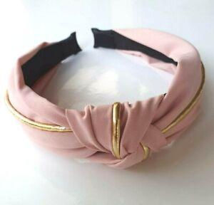 Pink-Wide-Hairband-Turban-For-Women-2019-Vintage-Spring-Racing-Headband