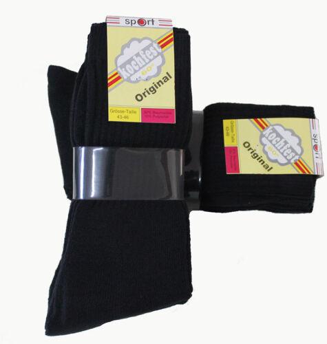 15 Paar Herren Sport Socken schwarz 90/% Baumwolle 43//46
