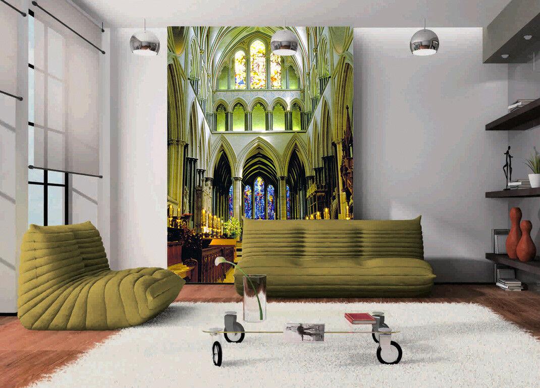 3D Frankreich Kathedrale 854  Tapete Wandgemälde Tapete Tapeten Bild Familie DE
