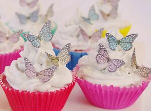 25 icing cupcake cake toppers decorations edible Animal Print butterflies images