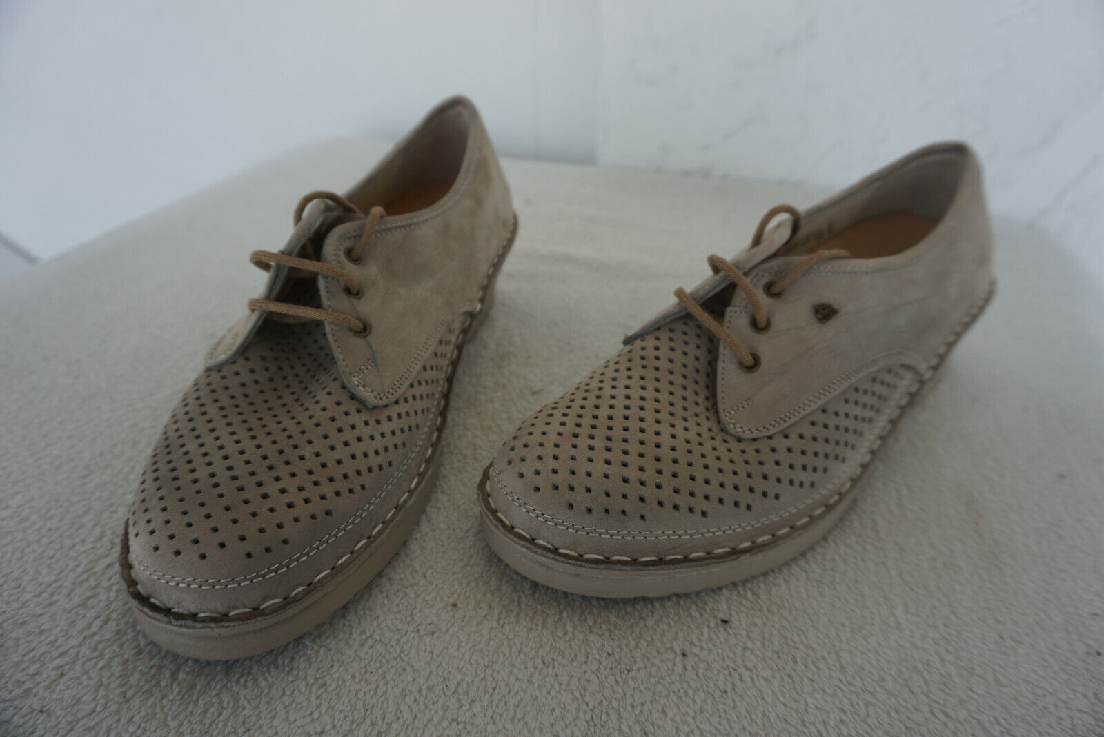Finn Comfort palermo zapatos con depósitos schnürzapatos talla 3 36 marrón de cuero nuevo