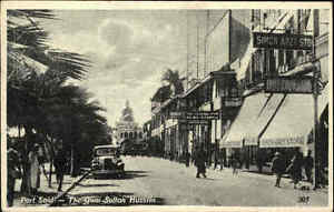 Port-Said-Agypten-Egypte-s-w-AK-1930-Auto-Car-Street-The-Quai-Sultan-Hussein