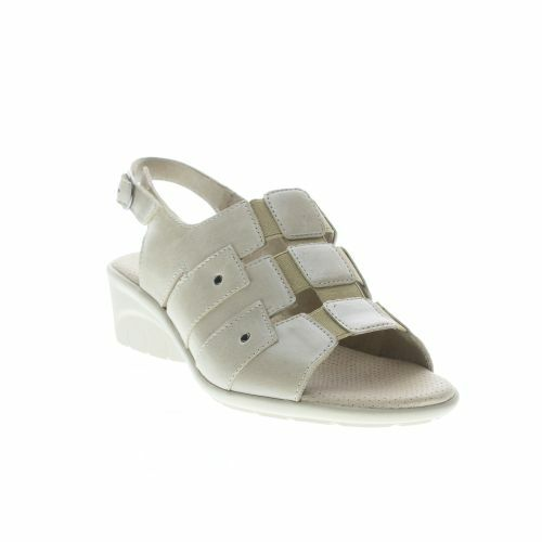 Women's SPRING STEP Champaign Bone Leather Sandals